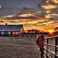 The Horse Barn Sunset by Reid Callaway