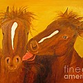 The Horse Kiss - Original Oil Painting by Anthony Morretta