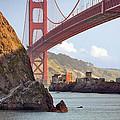 The House Below The Golden Gate Bridge by Daniel Furon