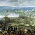 The Infanta Isabella Clara Eugenia At The Siege Of Breda Of 1624 by Pieter Snayers