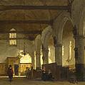The Interior Of The Bakenesserkerk. Haarlem by Johannes Bosboom
