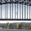 The Iron Railway Bridge Over The Rhine At Arnhem Netherlands by Ronald Jansen