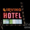 The Irving Hotel Vintage Sign by Emily Kay
