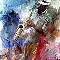 The Jazz Player by Evie Carrier