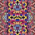 The Joy Of Design Mandala Series Puzzle 3 Arrangement 4 by Helena Tiainen