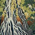 The Kirifuri Waterfall by Hokusai