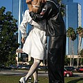 The Kiss - Sailor And Nurse - Sarasota  by Christiane Schulze Art And Photography
