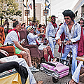 The Laissez Boys At Running Of The Bulls In New Orleans by Kathleen K Parker