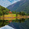 The Lake House Norway by Julia Fine Art And Photography
