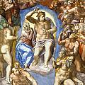 The Last Judgment - Detail by Michelangelo Buonarroti