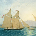 The Launch La Sociere On The Lake Of Geneva by Francis  Danby