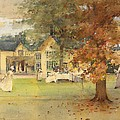 The Lawn Tennis Party by Arthur Melville