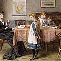 The Lesson by  George Goodwin Kilburne