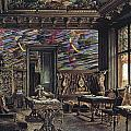The Library In The Palais Dumba-1877 by Rudolf von Alt
