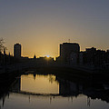 The Liffey River In Morning - Dublin Ireland by Bill Cannon