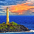 The Lighthouse At Nawiliwili Bay by Dominic Piperata