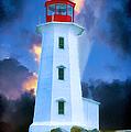 The Lighthouse At Peggys Cove by John Haldane
