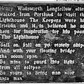 The Lighthouse Poem by Tara Potts