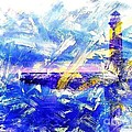 The Lighthouse Through Turbulent Waters by PainterArtist FIN