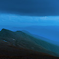 The Lights Of Lake Of The Clouds Hut by Joe Klementovich