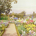 The Lily Border At Great Tangley Manor by Thomas H. Hunn
