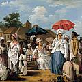 The Linen Market. Santo Domingo by Agostino Brunias