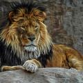 The Lion Digital Art by Ernie Echols