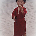 The Little Boy In The Red Silk Dress by Heiko Koehrer-Wagner