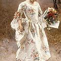 The Little Flower Girl  by Albert Raudnitz