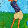 The Little Golfer by Habib Ayat