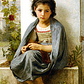 The Little Knitter by William Bouguereau
