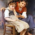 The Little Sulk by William Bouguereau