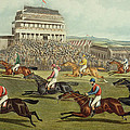 The Liverpool Grand National Steeplechase Coming In by Charles Hunt and Son