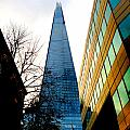The London Shard In Blue No2 by Gordon James