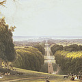 The Long Walk, Windsor Park by William Daniell