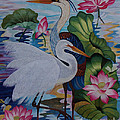 The Lotus Pond Hand Embroidery by To-Tam Gerwe