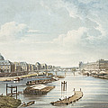 The Louvre, From Views On The Seine by Augustus Charles Pugin