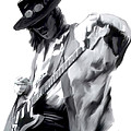The Maestro   Stevie Ray Vaughan by Iconic Images Art Gallery David Pucciarelli