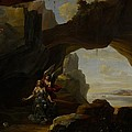 The Magdalen In A Cave by Johannes Lingelbach