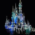 The Magic Kingdom Castle In Frosty Dark Blue Walt Disney World by Thomas Woolworth