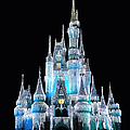 The Magic Kingdom Castle In Frosty Light Blue Walt Disney World by Thomas Woolworth