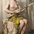 The Mandolin Player by Theobald Chartran