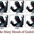 The Many Moods Of Godzilla by William Patrick