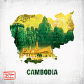 The Map Of Cambodia 2 by To-Tam Gerwe