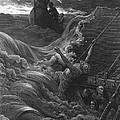 The Mariner As His Ship Is Sinking Sees The Boat With The Hermit And Pilot by Gustave Dore