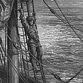 The Mariner Describes To His Listener The Wedding Guest His Feelings Of Loneliness And Desolation  by Gustave Dore