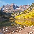 The Maroon Bells Near Aspen Colorado by Alex Cassels