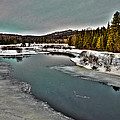 The Melting Of The Moose River In The Adirondacks by David Patterson