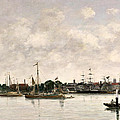 The Meuse At Dordrecht by Eugene Louis Boudin