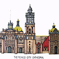 The Mexico City Cathedral by Frederic Kohli